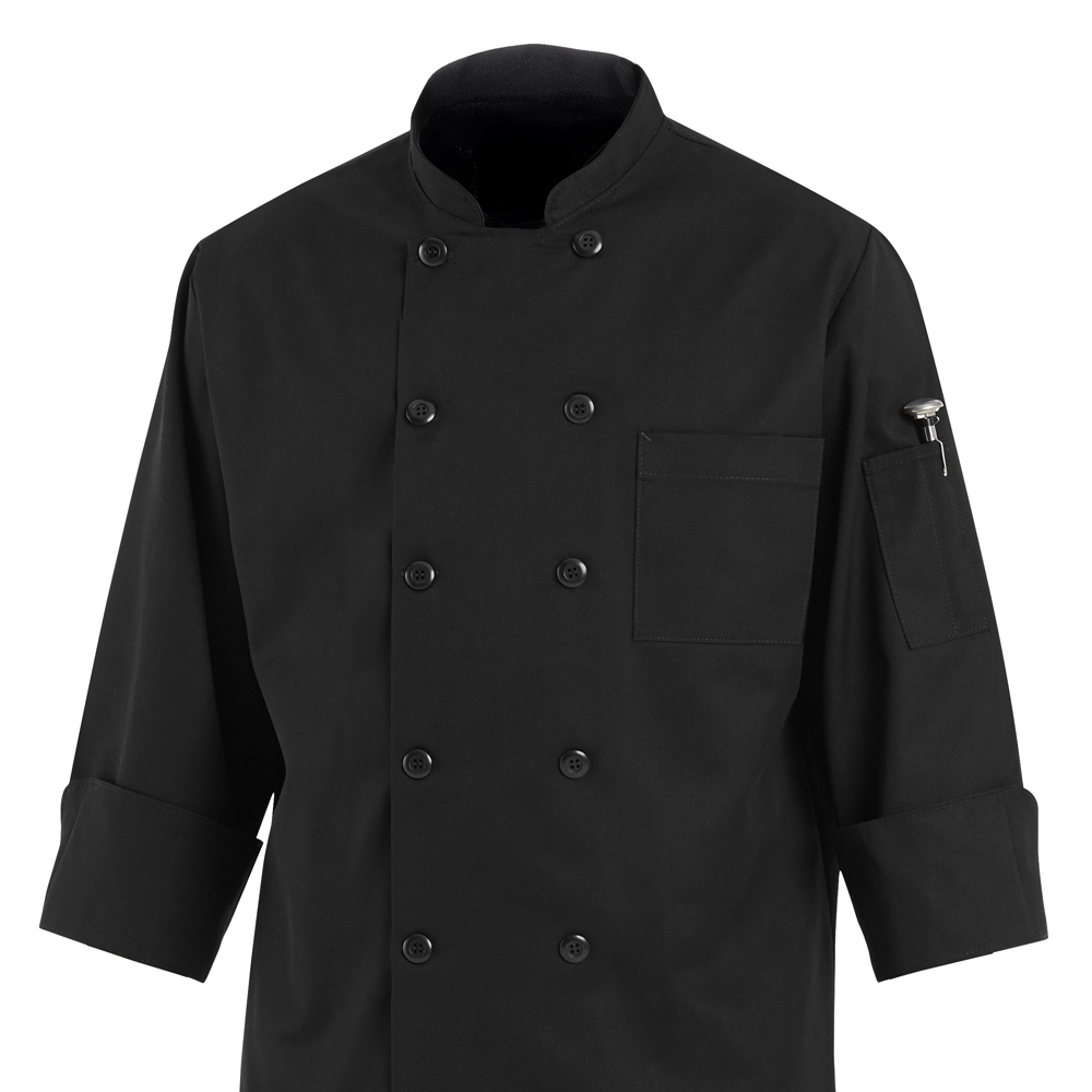 Dempsey Uniform black chef coat