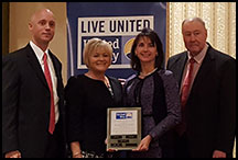 Dempsey was recognized by the United Way