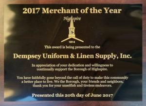 dempsey merchant year award 2017