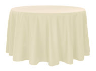 Ivory Dempsey Uniform round tablecloth
