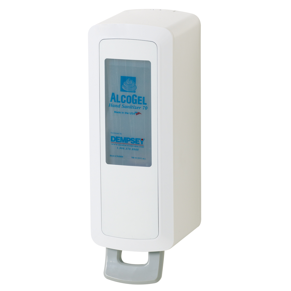 Dempsey Uniform manual sanitizer dispenser