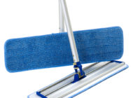 Close-up view of Dempsey Uniform microfiber mops