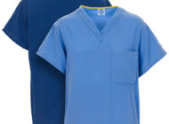 Front and back views of Dempsey Uniform PerforMAX scrub shirts