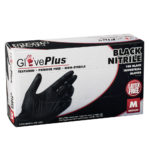 Box of Dempsey Uniform black premium nitrile gloves
