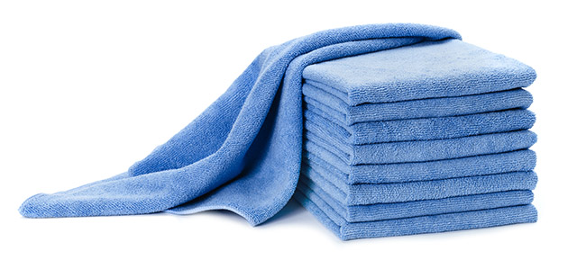 Towel Rental Service: Blue Microfiber Towel from Dempsey Uniform