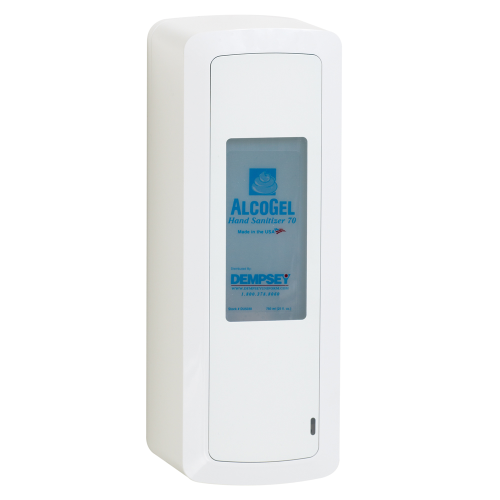 Dempsey Uniform touch-free sanitizer dispenser