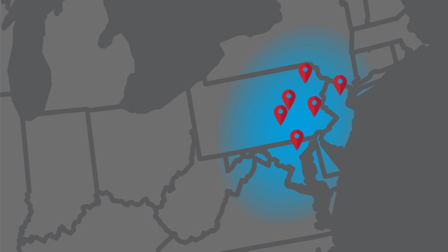 Dempsey Uniform Service Area Service Centers