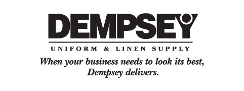 Dempsey Logo with Slogan Black and White