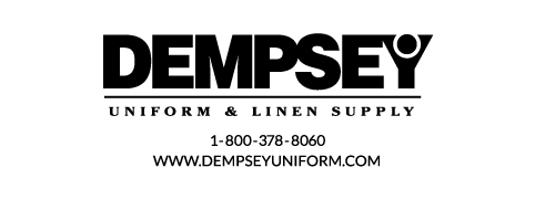 Dempsey Logo with Phone Number Website Sans Serif BW