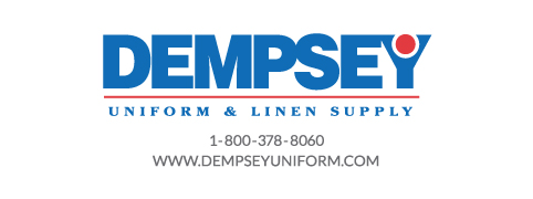 Dempsey Logo with Phone Number Website Sans Serif