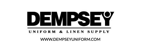Dempsey Logo with Website Sans Serif bw