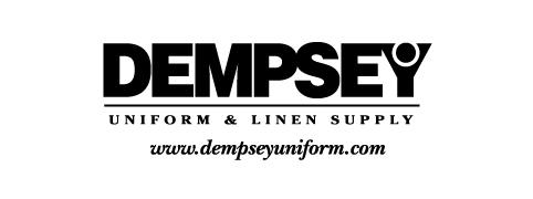Dempsey Logo with Website Serif bw