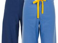 Front and back views of Dempsey Uniform pocketless scrub pants