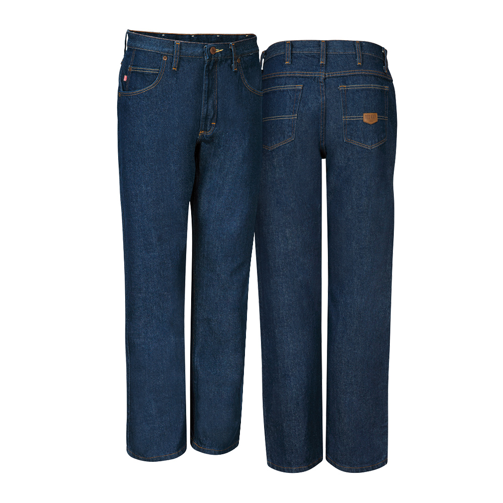 Front and back view of Dempsey Uniform authentic RK denim jeans