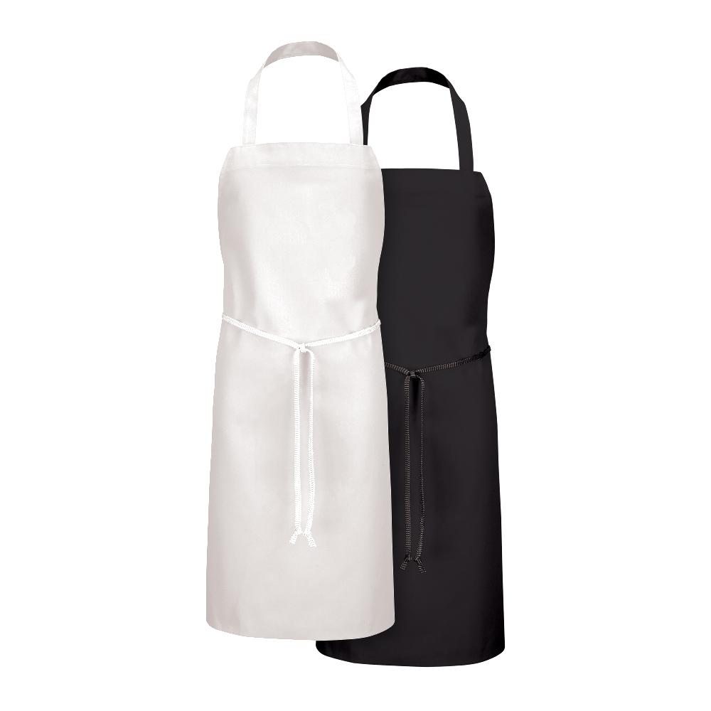 Black and white Dempsey Uniform bib aprons