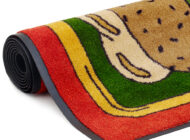Close-up view of Dempsey Uniform deli message mat