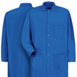 Front and back view of Dempsey Uniform ESD anti-static coat