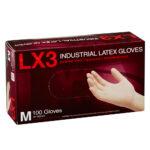 Box of Dempsey Uniform latex disposable gloves