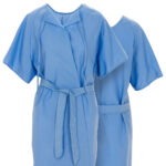Front and back of Dempsey Uniform medical exam gown