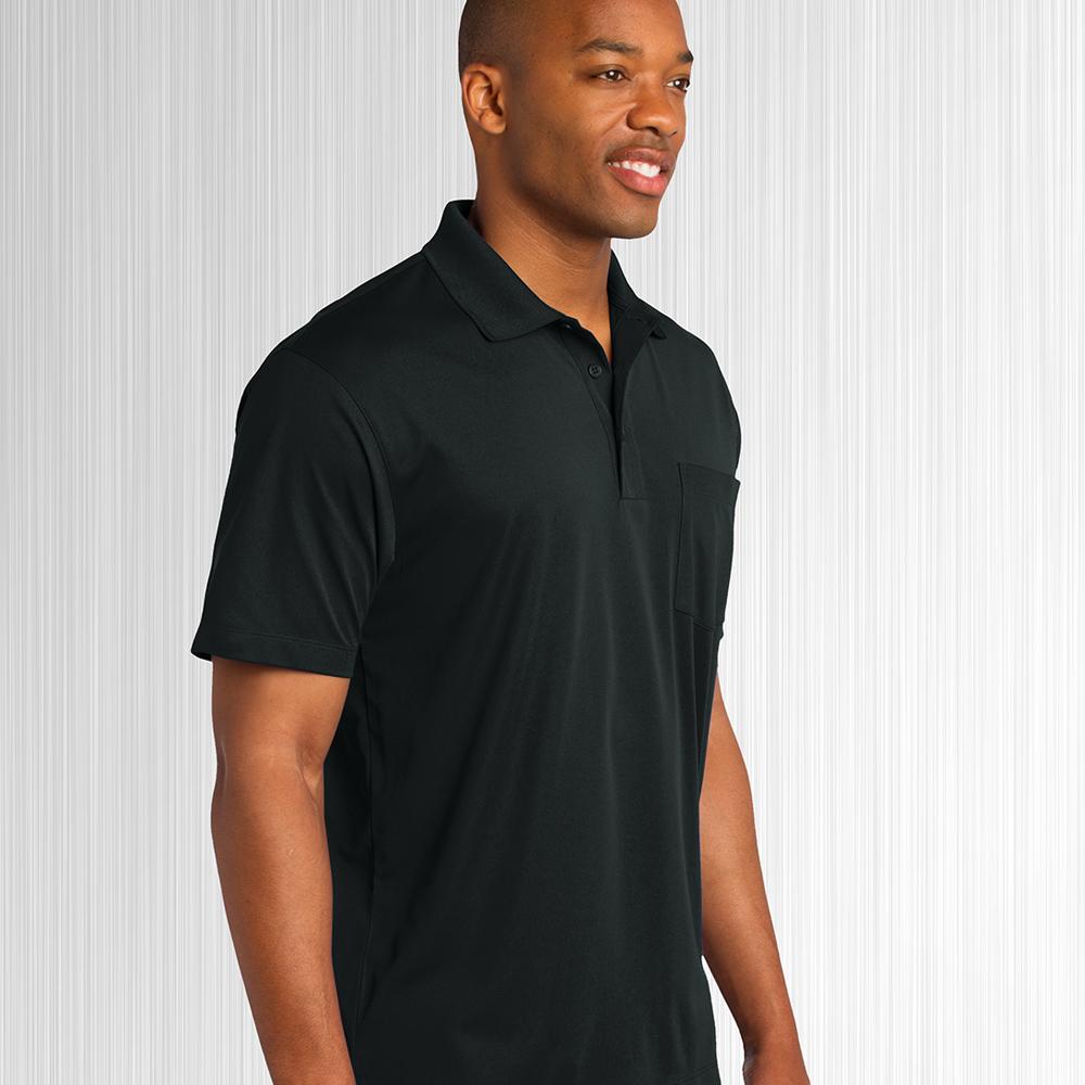 Black Dempsey Uniform performance polo shirt