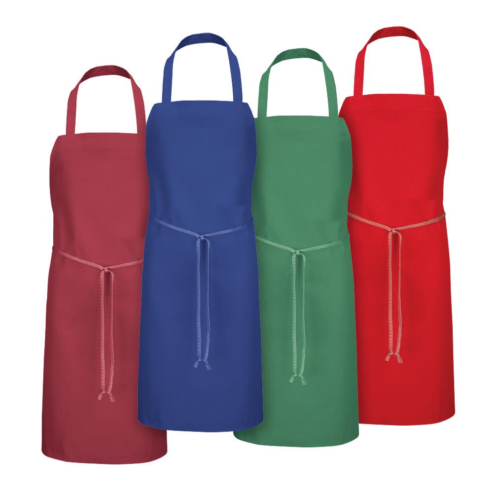 Dempsey Uniform solid-color bib aprons