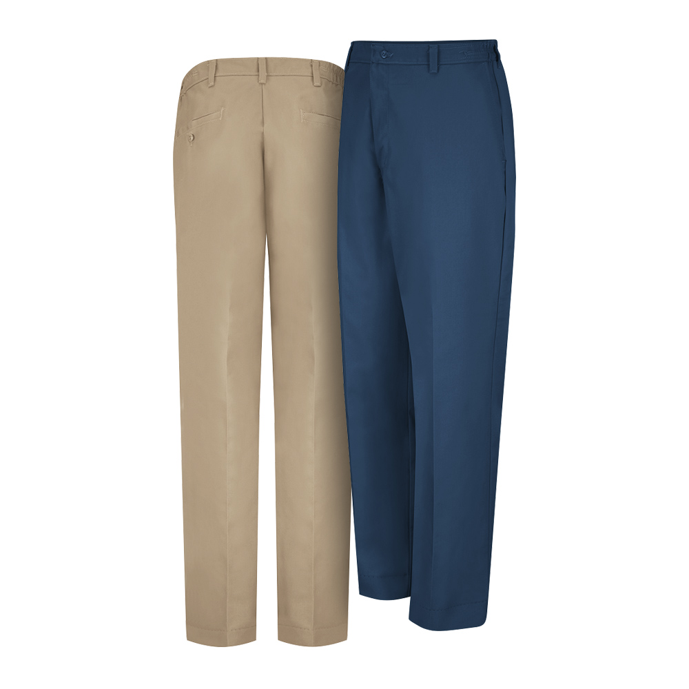 Tan and navy Dempsey Uniform work pants