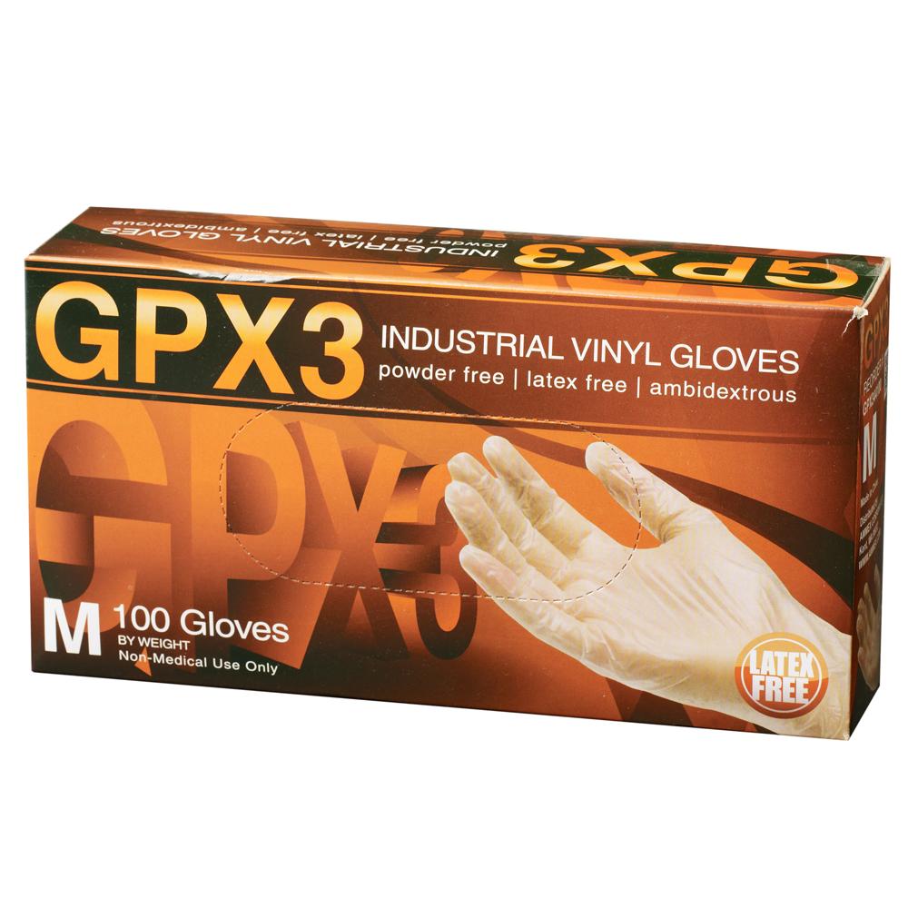 Box of Dempsey Uniform vinyl disposable gloves
