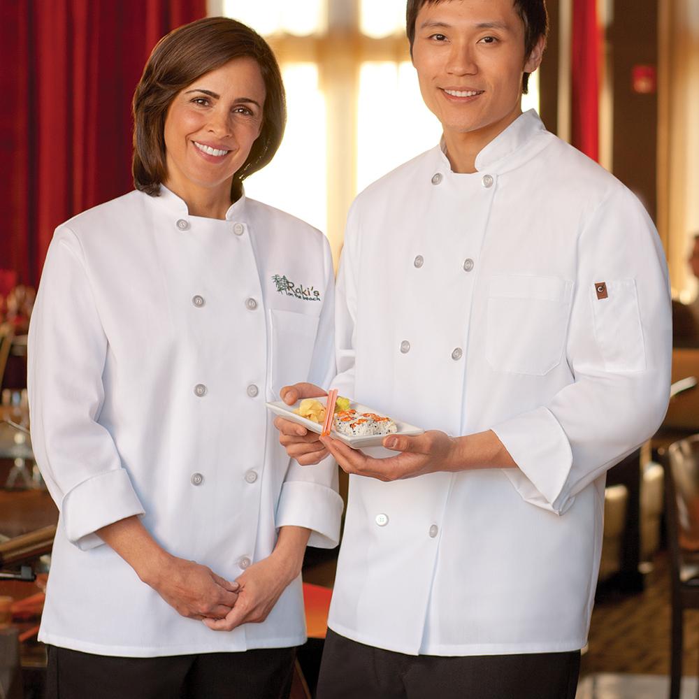 Staff wearing Dempsey Uniform white chef coats
