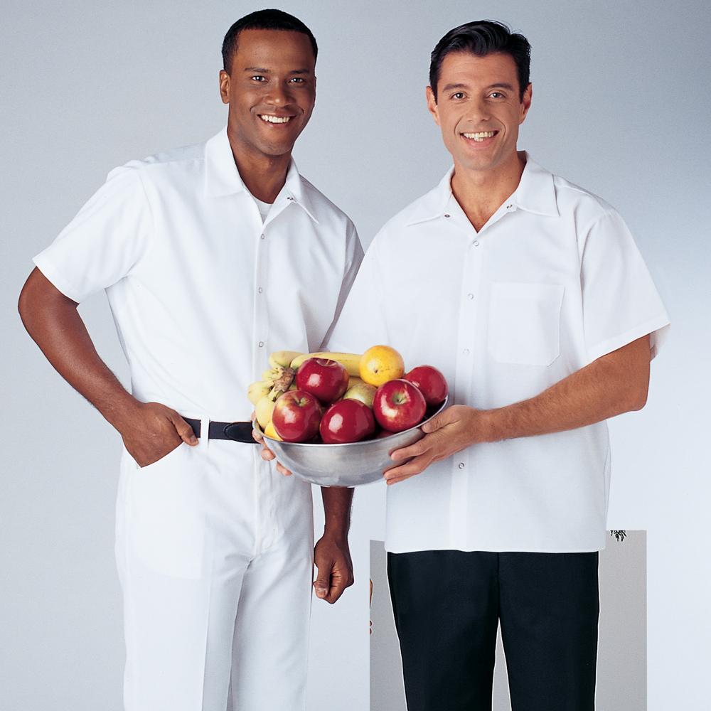 Staff wearing Dempsey Uniform cook shirts