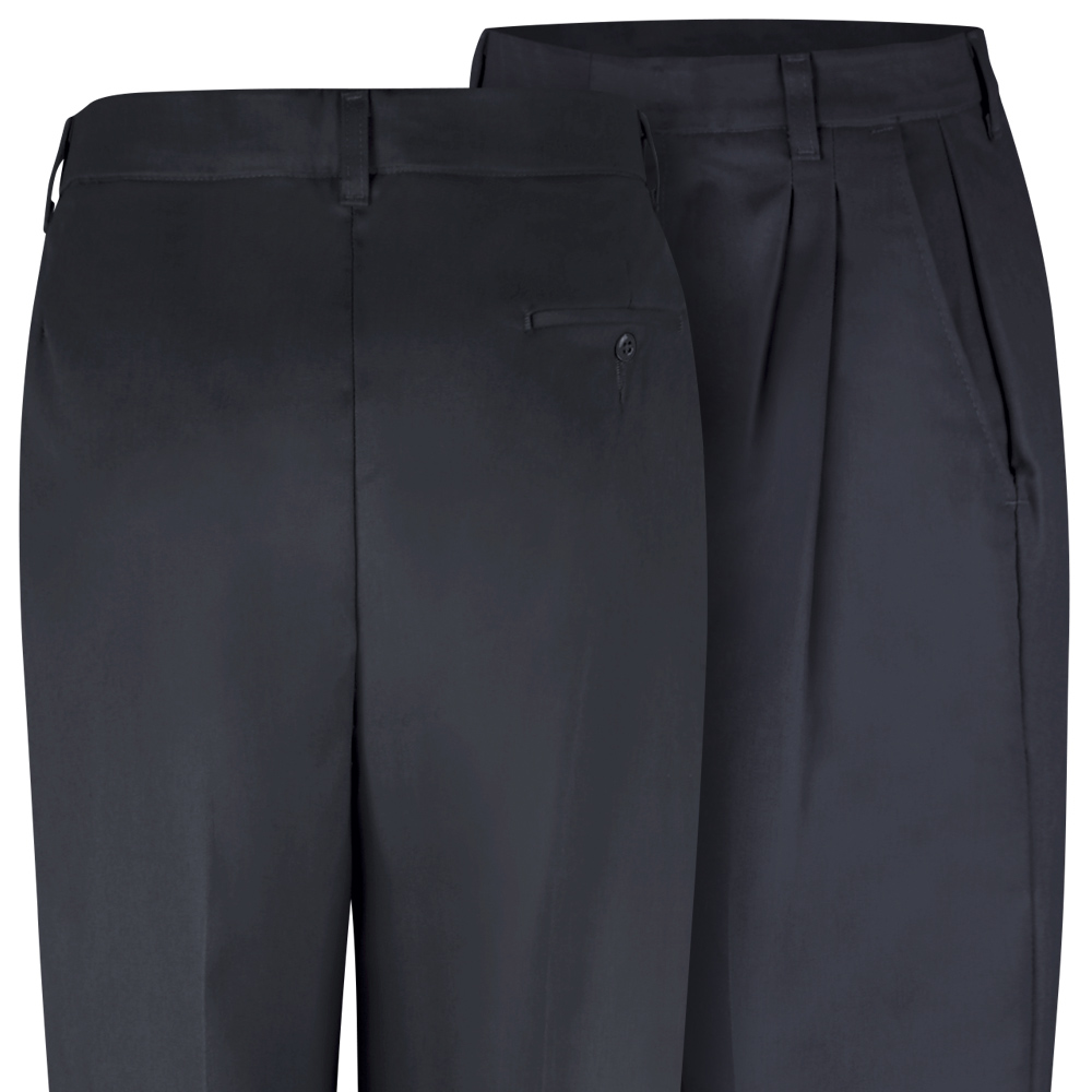 Close-up view of Dempsey Uniform womens double-pleated pants