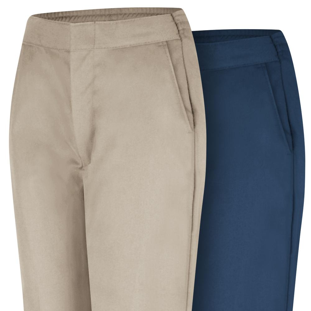 Tan and navy Dempsey Uniform womens work pants